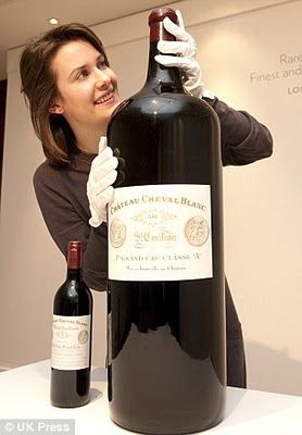 Now this is what I call a bottle of wine! Cheval Blanc