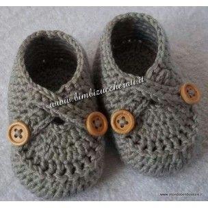 Scarpe bimbo uncinetto baby crochet