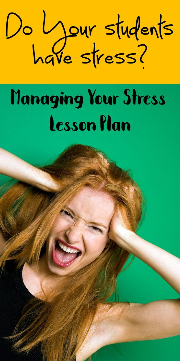 Great lesson for helping tweens and teens learn to manage their stress.