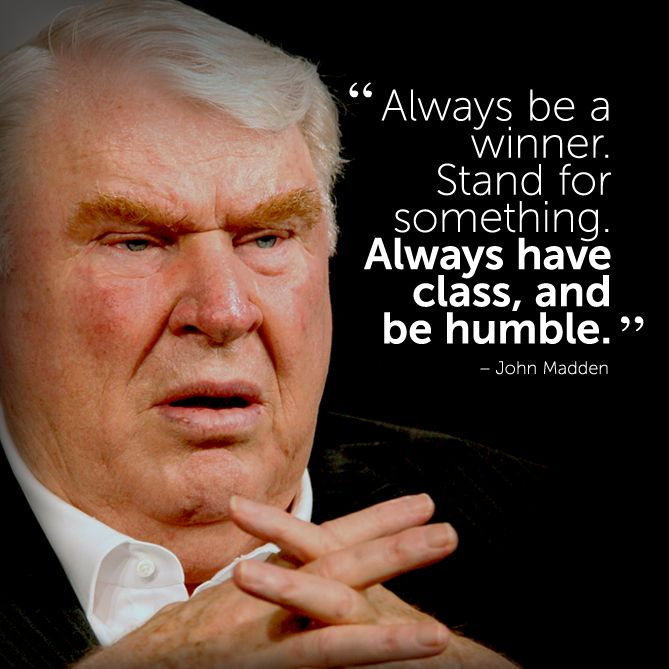 #inspirational #quote by John Madden #fitspiration