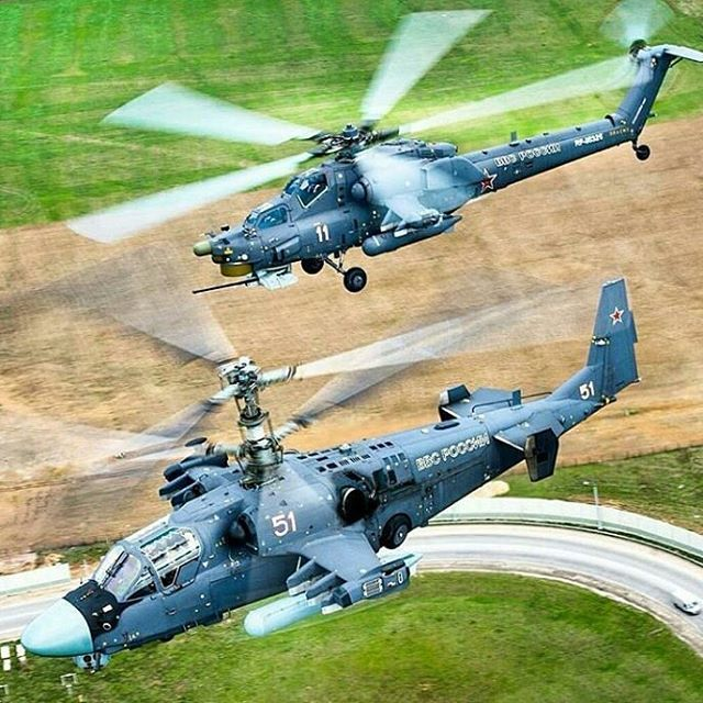 Kamov Ka-52 Alligator and Mil Mi-28N Night Hunter