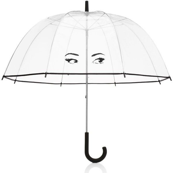 Kate Spade Winking Eyes Umbrella ($38) ❤ liked on Polyvore featuring accessories, umbrellas, umbrella, fillers, extras, home, kate spade y kate spade umbrella
