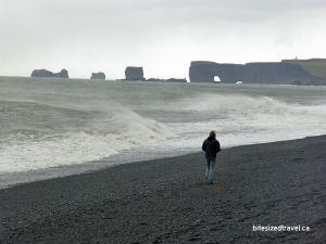iceland reynisfjara black sand beach Dyrhólaey