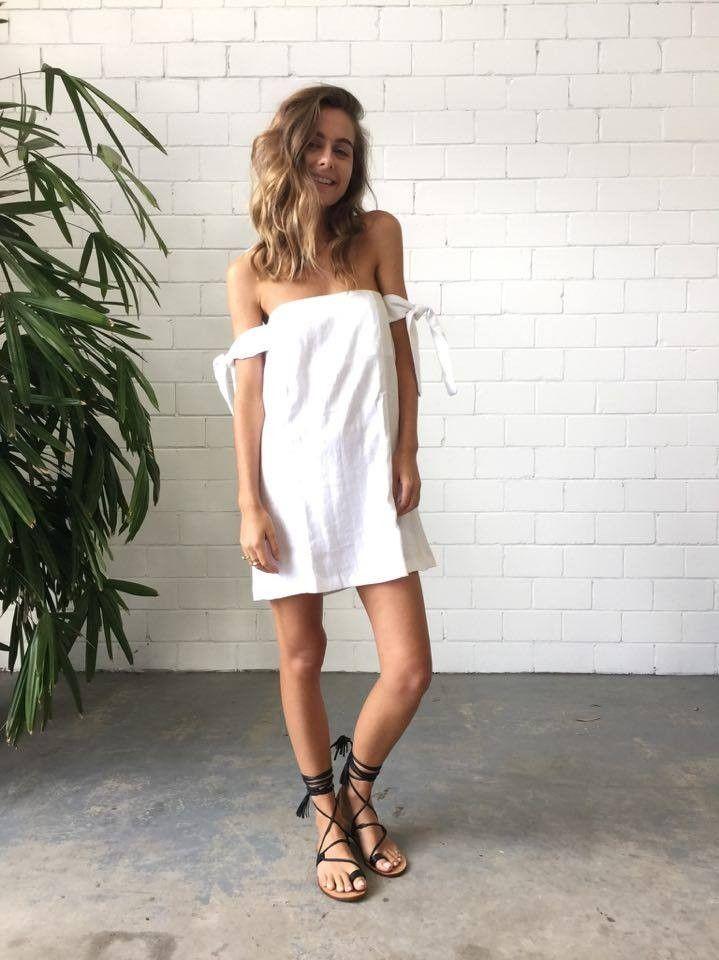 Sir The Label Kobi Strapless Dress - White