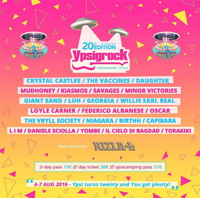 Ypsigrock Festival 2016 in Castelbuono, Sicily | 4-7 August, 2016