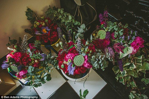 The stunning flowers Annie and Isaac had at their pop up wedding...