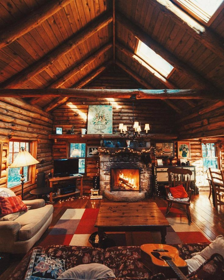 Nice House Decorating Ideas: Nice Cozy Cabin With Lots Of Natural Light #mountaincabin