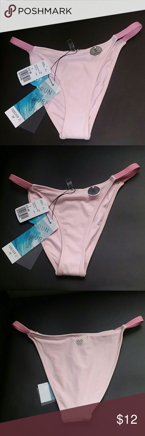 Pink Bikini Bottom 💓 Run,Surf,Swim pink bikini bottom Forever 21 Swim Bikinis