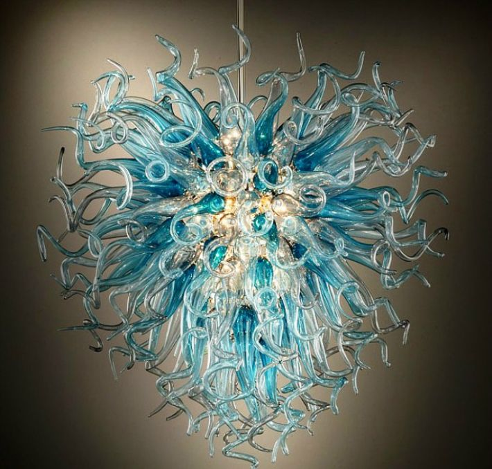 Hand N Glass Chandelier, Chihuly Like Chandeliers