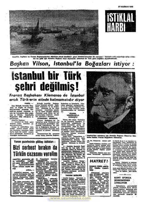 istiklal harbi gazetesi 27 haziran 1919