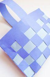 Second Grade Paper & Glue Crafts Activities: Weave a Paper Basket