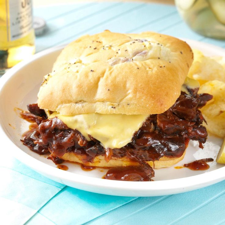 Tex-Mex Shredded Beef Sandwiches Recipe -Slow cooker meals, like this shredded beef sandwich, are my favorite kind. After I get a few ingredients into the slow cooker, I can do my own thing. Plus, I have a hearty, satisfying meal when I come home! —Kathy White, Henderson, Nevada