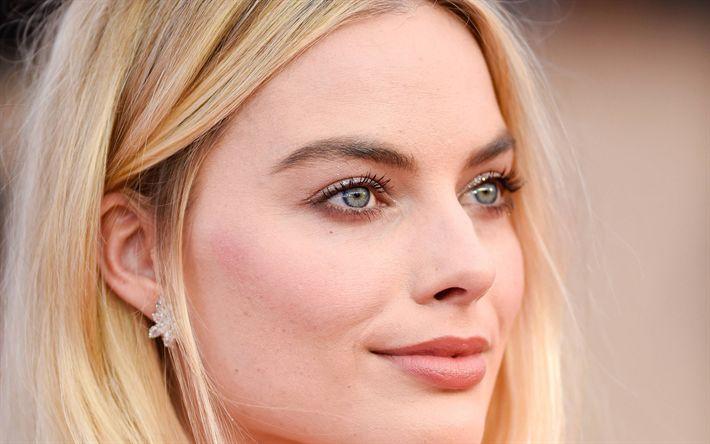 Download wallpapers Margot Robbie, 2018, portrait, photoshoot, Hollywood, australian actress, blonde