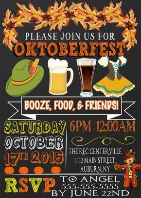 Oktoberfest lädt ein, einzigartige oktoberfest party einladungen, meistverkauftes oktoberfest lädt ein, modernes o – Hamlin events