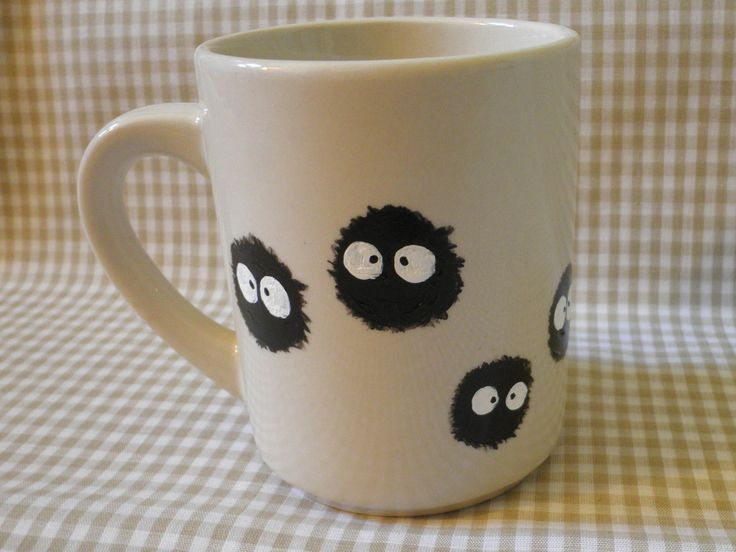 Soot Sprite Hand Painted Mug. $14.00, via Etsy. - i can totally make this!