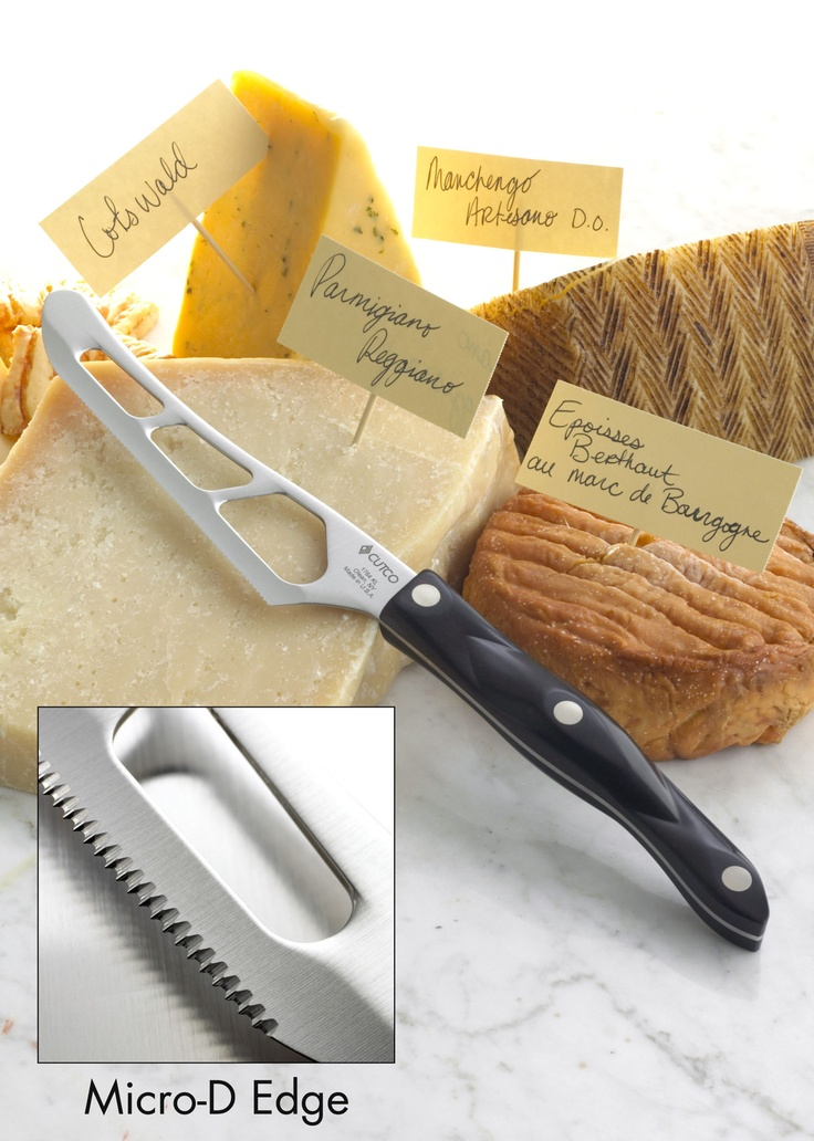 Cheese Knife: ANY kind of cheese, citrus fruits, and especially potatoes or other thick foods.