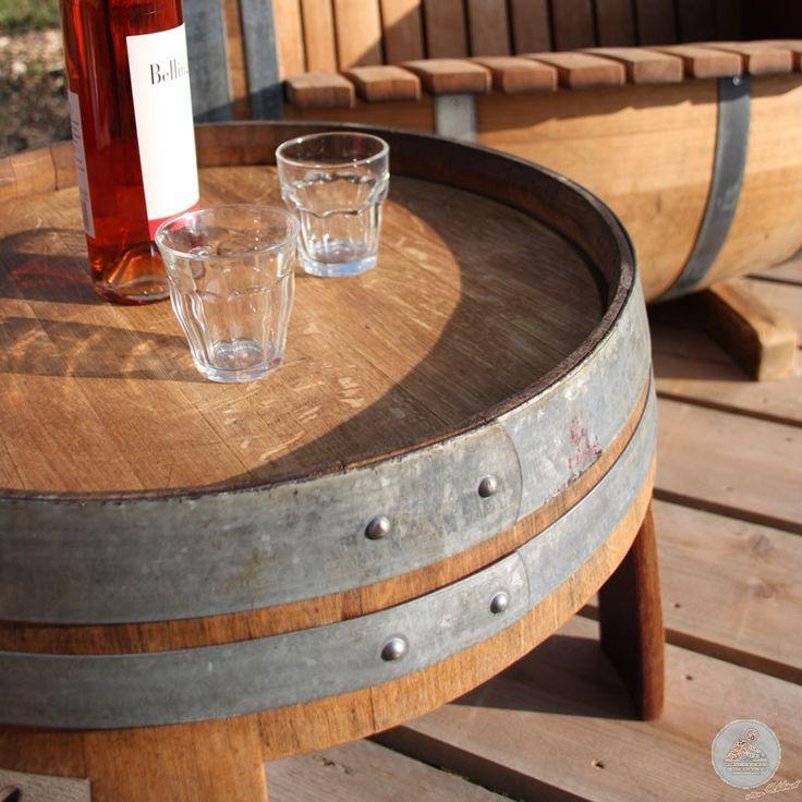 Wijnvat Bijzettafel Handgemaakt in Haarlem