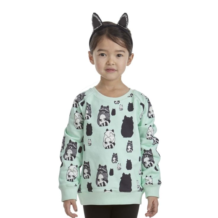 Reversible Sweatshirt Raccoon, minilo.ch