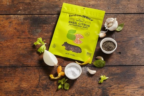 Beef Jerky: Basil Citrus - 3oz Bag - All Natural & Gluten Free by Fusion Jerky on Gourmly