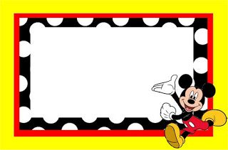 Inspired in Mickey Mouse: Free Party Printables in Red and Black. Right click…