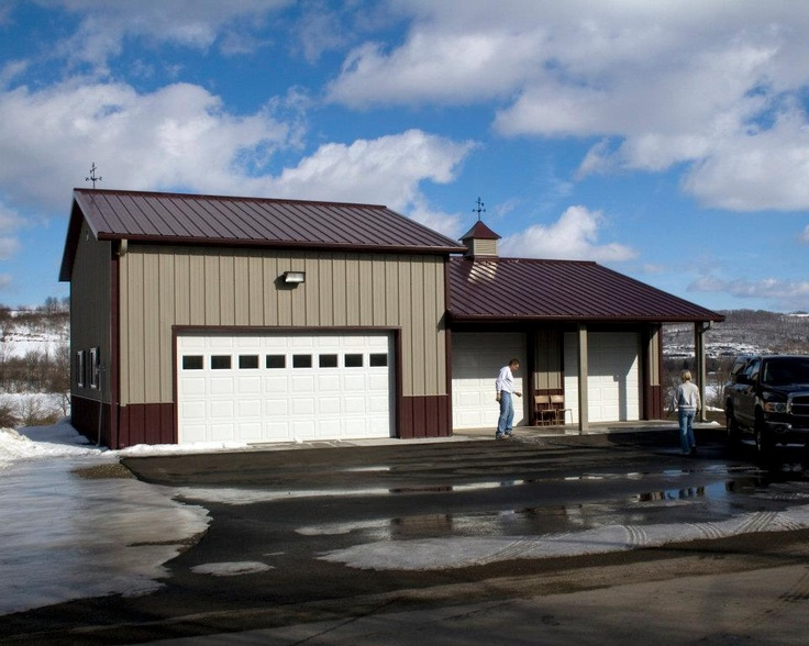 Morton Hobby Building In Homer Ny Hobby Garages In 2019 Morton Building Steel