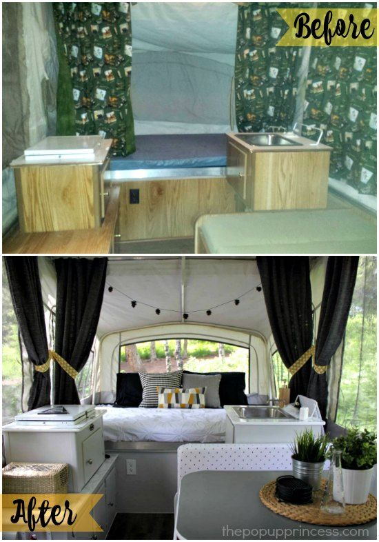What an amazing transformation!  It is hard to believe it is the same camper!