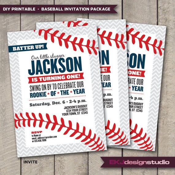 DIY Printable BASEBALL Rookie of the Year by EKJdesignstudio