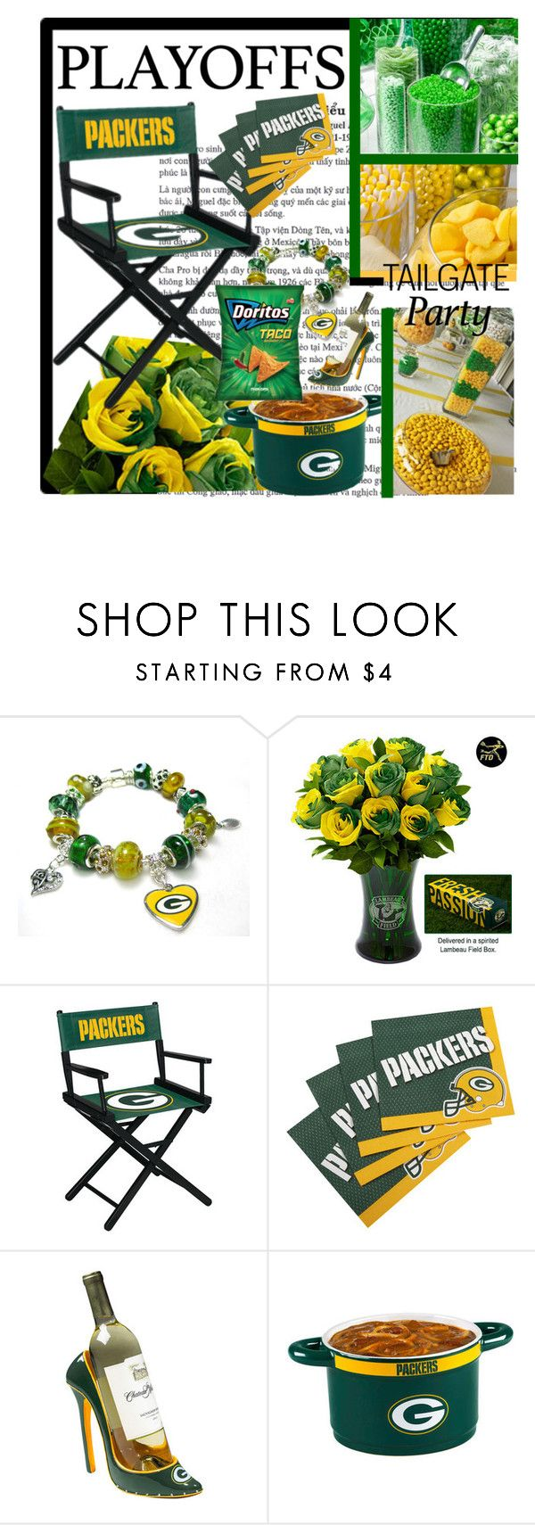 """Playoffs Tailgate Party Green Bay Packers"" by jewelryrecipe ❤ liked on Polyvore featuring interior, interiors, interior design, home, home decor, interior decorating, playoffs and tailgatingparty"