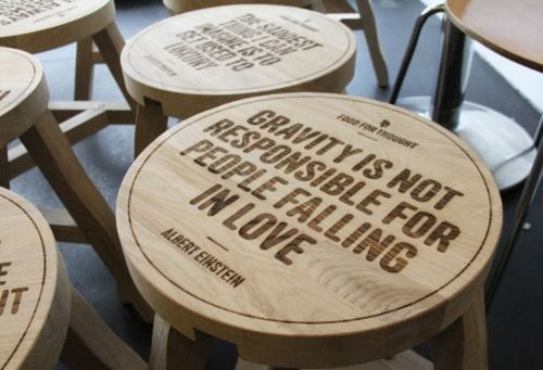 Gravity is not responsible for people falling in Love -Albert Einstein-