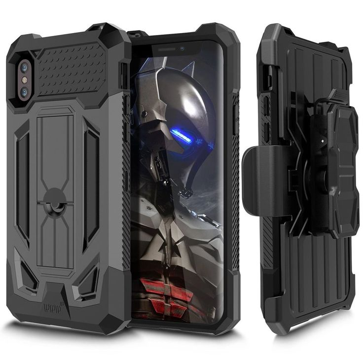 #Rugged #Holster #Iphone X #Case #Heavy #Duty Full-Body #Protective #Shock #Absorption