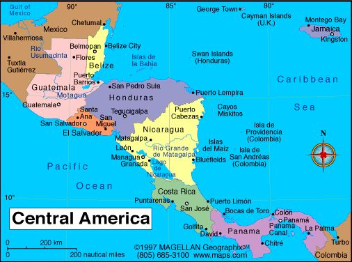 To hit all the countries in Central America would be AWESOME