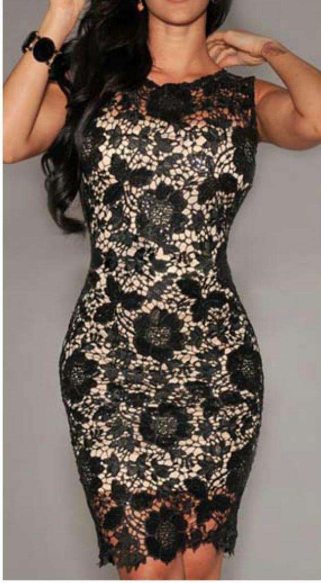 Fabulous Sleeveless Lace Sheath Dress