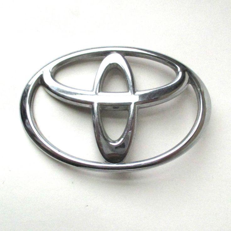 Chrome TOYOTA Emblem, Toyota symbol, custom car, automobile logo, 3 15/16 inch by QuirkMuseum on Etsy