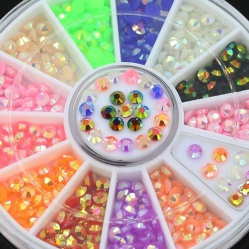 DIY Nails Art Tips Rhinestones Stickers Nail Fashion Nail Decoration Awesome | eBay