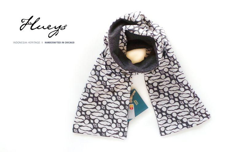 Fall Winter Scarf W/ Hidden Pocket- travel, hidden pocket scarf, batik scarf, wedding, travel gear, travel gift, bridesmaid gift by Hueynie on Etsy
