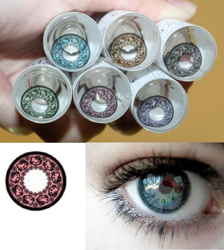6a4225c07 Hello Kitty Contact Lenses | The Things They'll Carry | Hello kitty ...