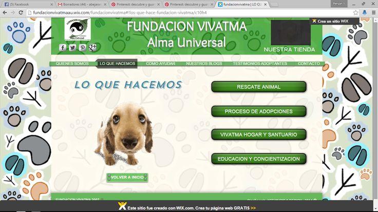 DISEÑO PAGINA WEB FUNDACION VIVATMA  CLICK EN LA IMAGEN PARA IR A LA WEB.