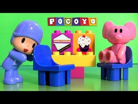 Pocoyó Juguetes en Español  Pocoyo y sus amigos van en el bus del cole - YouTube