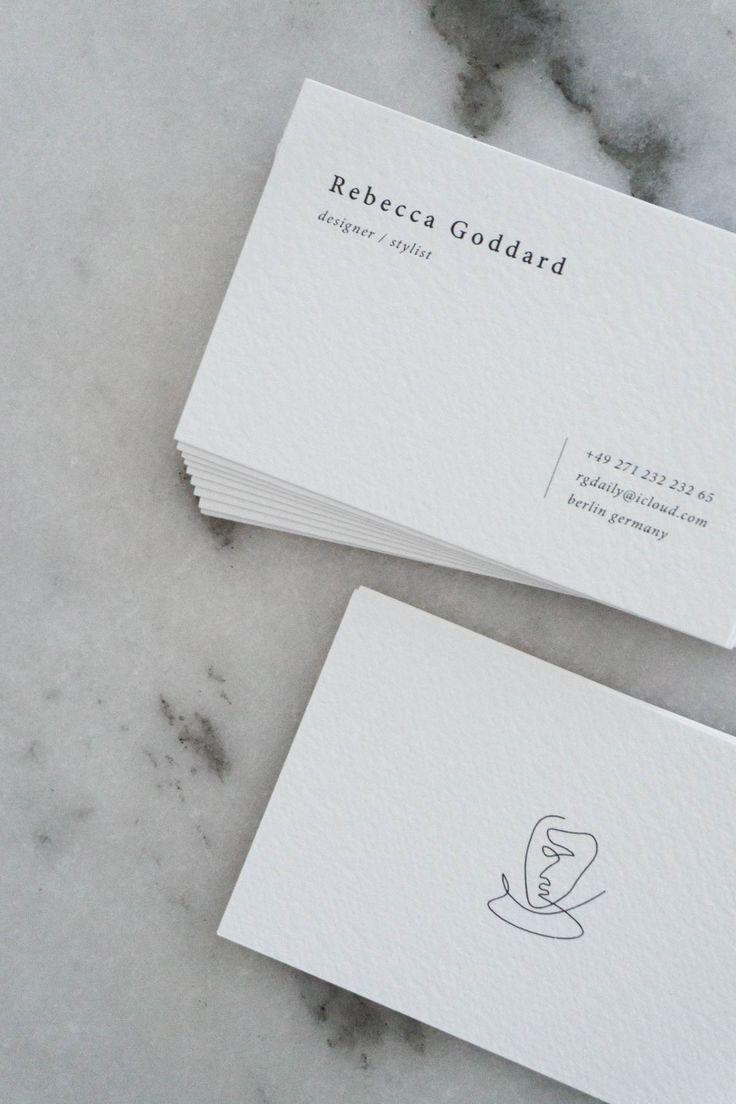 Classic Minimalist Business Card Design Black Line Drawing Rebecca Graphic Design Business Card Business Card Design Black Business Card Design Creative