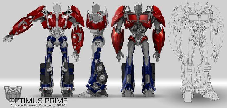 Optimus prime body turn transformers prime autobot - Optimus prime dessin ...