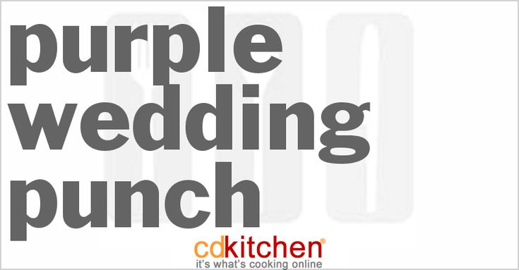 A recipe for Purple Wedding Punch made with punch, Kool Aid, rainbow sherbet