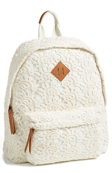 Keeping it cool for school with this Steve Madden crochet backpack.