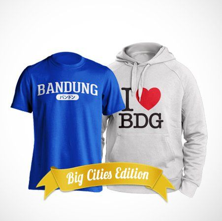 Bandung t-shirt and hoodie by BigCitees. http://www.zocko.com/z/JJs2m