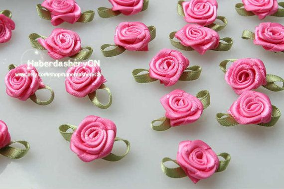 AA03 FREE SHIPPING 450pcs Satin Ribbon pink by haberdasheryCN, $16.00