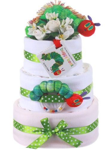 Very Hungry Caterpillar nappy cake!!