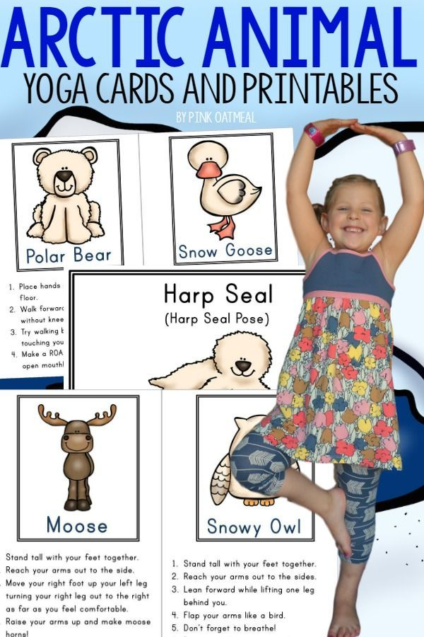 Arctic Animal Activities!  These yoga poses are perfect for your arctic animal unit.  They are also great for the winter time.  A must try even for someone who has never done kids yoga.  Too much fun not to do!