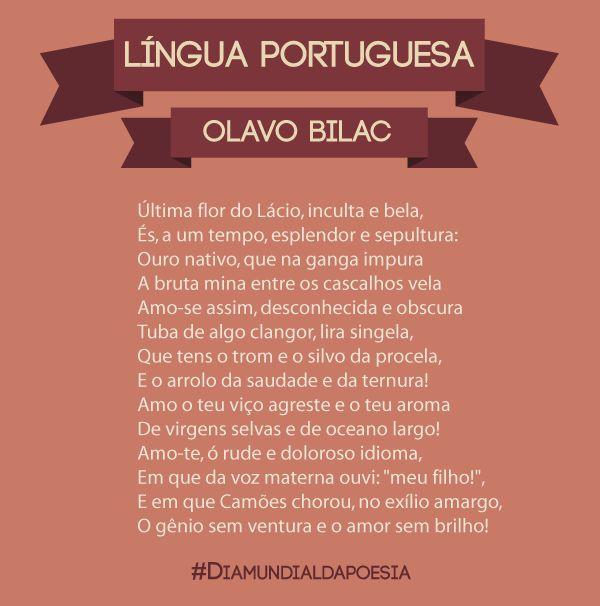 Língua Portuguesa - Olavo Bilac