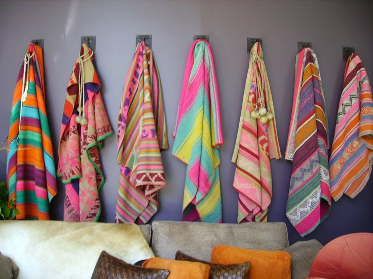 colorful vintage blankets boho chic