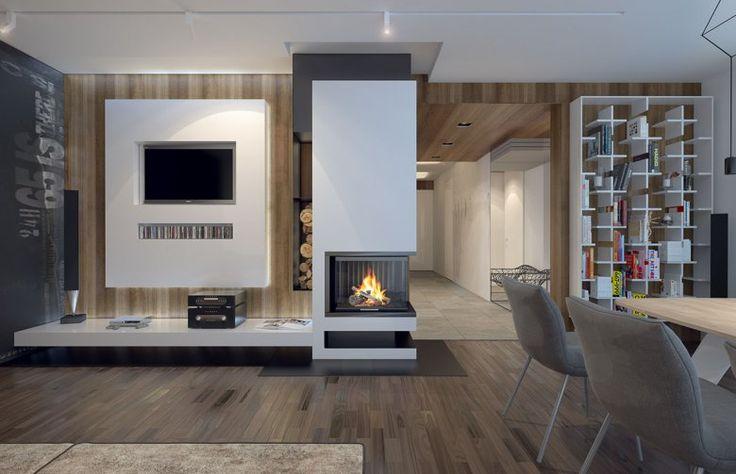 Wnętrze utrzymane w nowoczesnym stylu! Klasyczna biel i szarość w połączeniu z elemenatmi drewnianymi. Co o tym sądzicie?