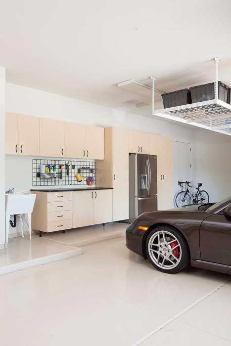 Maple Garage Workbench With Ebony Star Counter Top · Overhead Garage  LagerungGarage AufbewahrungssystemeGarageneinrichtungStauraum IdeenGaragen  ...